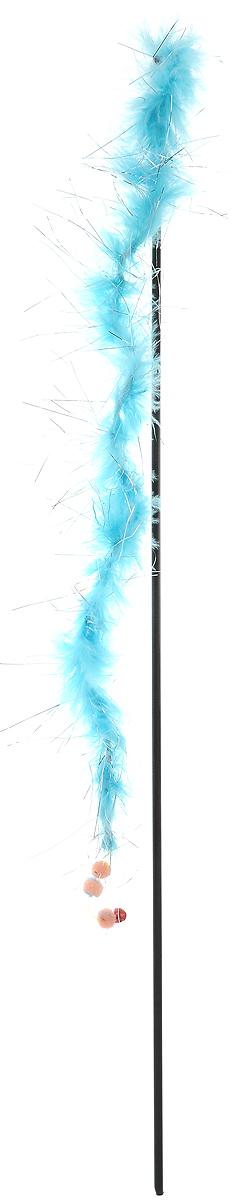 Игрушка-дразнилка для кошек GLG Боа с блестками, цвет: голубой, длина 60 см0120710Игрушка-дразнилка для кошек GLG Боа с блестками представляет собой пластиковую палочку, на конце которой расположена перьевая нить с блестками. Игрушка снабжена резинкой, поэтому хорошо пружинит и отскакивает. Такая игрушка поможет развить мускулатуру и реакцию кошки, а также удовлетворит ее охотничий инстинкт. Способствует балансировке нервной системы, повышению мышечного тонуса, правильному развитию скелета. Рекомендуется для совместных игр хозяина с питомцем.Длина игрушки: 60 см.