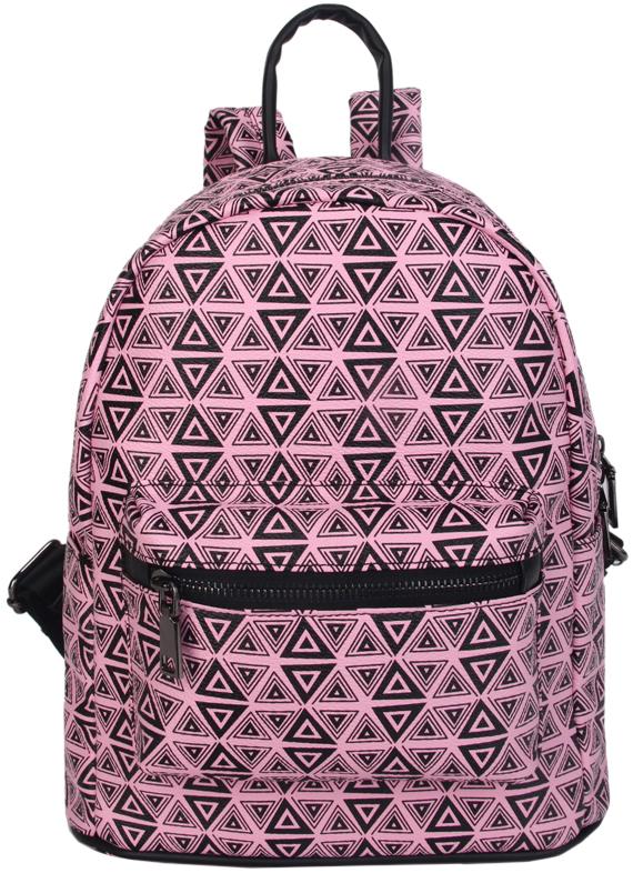 Рюкзак женский OrsOro, цвет: розовый, черный. D-459/3L39845800Рюкзак OrsOro выполнен из искусственной кожи высокого качества. Рюкзак имеет одно отделение, закрывается на молнию. Внутри располагается карман на молнии.Снаружи имеется внешний передний накладной карман на молнии, два боковых кармана и внешний карман на молнии на задней стенке. Рюкзак обладает удобной ручкой и двумя регулируемыми плечевыми лямками.