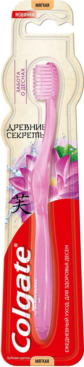 Colgate Древние секреты Зубная щетка Забота о деснах, мягкая, цвет: сиреневыйSatin Hair 7 BR730MNЗубная щетка Colgate Древние секреты: Забота о деснах со щетиной высокой плотности помогает удалять бактерии, чем обеспечивает здоровье десен. Компактная головка зубной щетки делает чистку зубов еще более удобной.Зубную щетку Colgate Древние Секреты рекомендуется использовать вместе с зубной пастой Colgate Древние Секреты, содержащей ценные ингредиенты, которые упоминались еще в традиционных китайских рецептах, для здоровья зубов и десен.Товар сертифицирован.