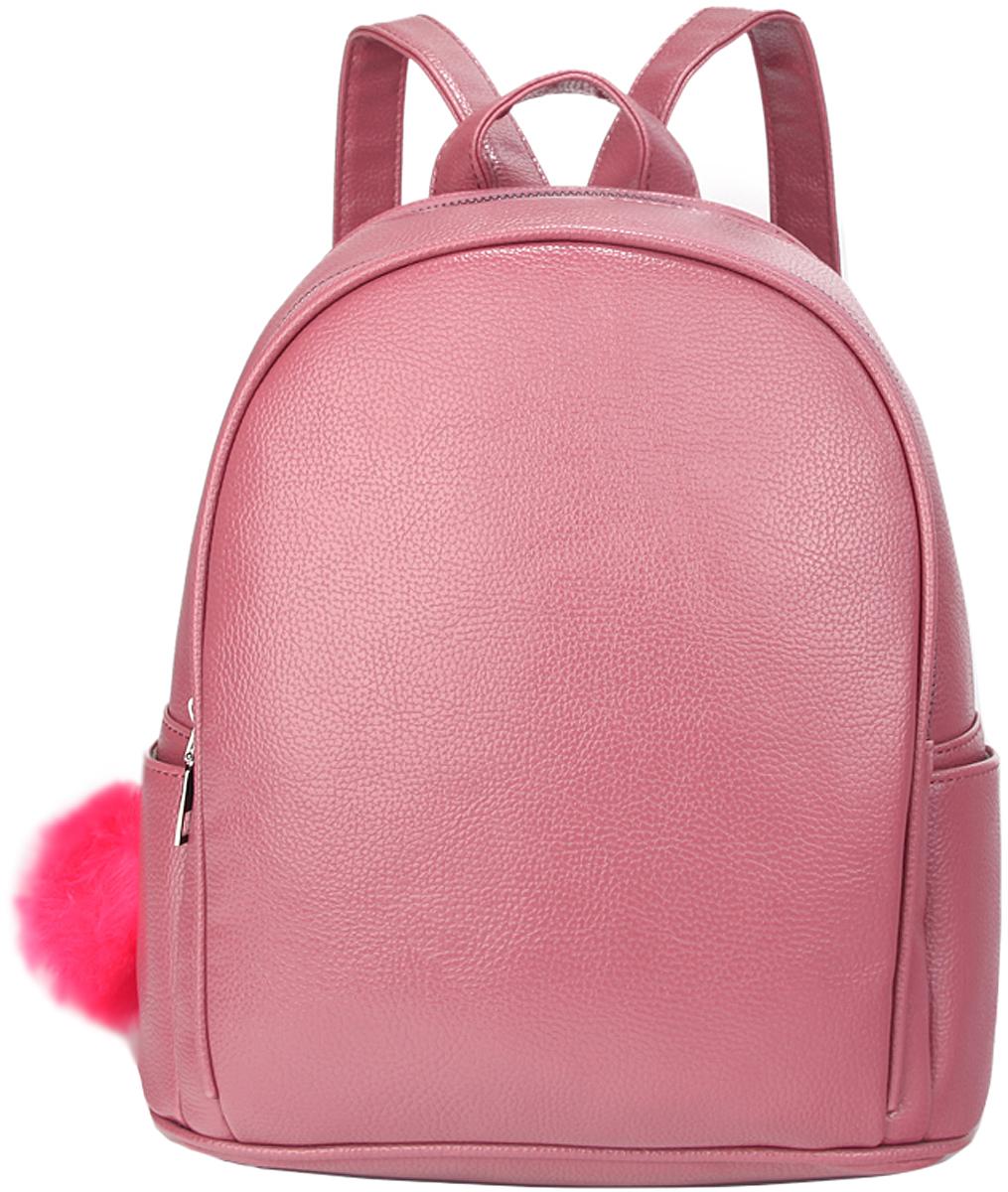 Сумка женская OrsOro, цвет: розовый. D-438/3579995-400Рюкзак с двуми отделениями, внутренний карман-перегородка на молнии, карман внутренний для телефона, 2 внешних боковых кармана, внешний карман на задней стенке.