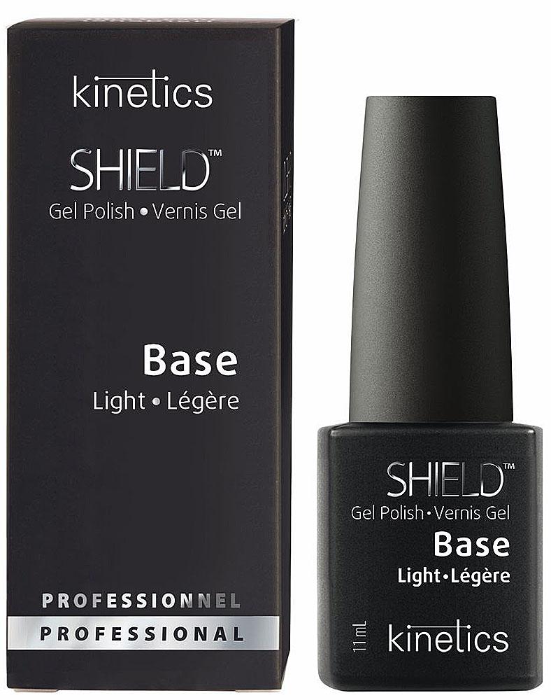 Kinetics База для гель-лака Shield Light Base, 11 млKGPBLЛегкая база SHIELD Light Base идеально подходит для здоровых и крепких ногтей. Высокоэластичная и самовыравнивающаяся, наносится тонким слоем, как лак для ногтей. Не имеет усадки от свободного края. Удаляется в течение 7 минут, не повреждая ногтевую пластину.
