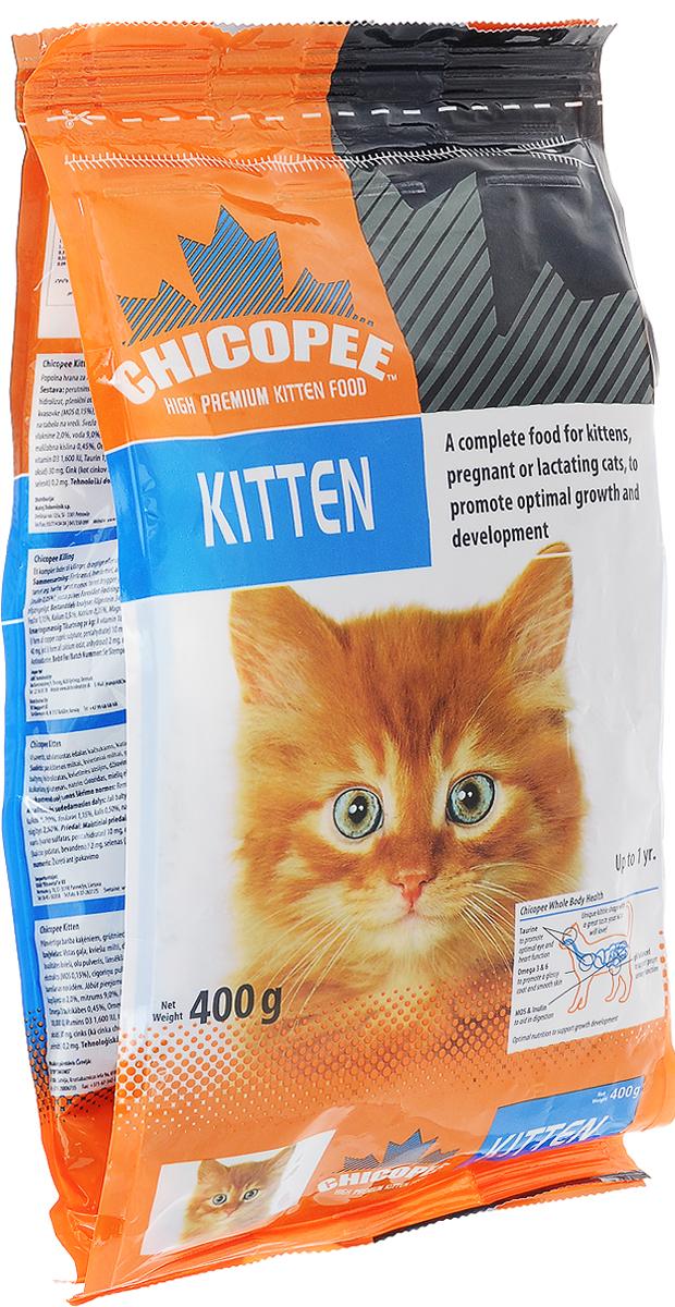 Корм сухой Chicopee Kitten для котят, с птицей, 400 г9466604Корм сухой Chicopee Kitten - это полноценное питание для котят, беременных и кормящих кошек для оптимального роста и развития. В первый год жизни котенку требуется особый рацион, ведь его организму необходимы ресурсы для роста и развития. При этом важно, чтобы состав продукта не был слишком сложен для несформировавшегося пищеварения питомца. Сухой корм Chicopee для котят - продукт питания, основой которого являются легкоусвояемые ингредиенты, хорошо перевариваемые слабым желудочно-кишечным трактом. Он также подходит для полноценного рациона беременной или кормящей кошки. Особенности состава корма Chicopee для котят:Значительное количество легкоусвояемого белка - главного строительного материала в период вынашивания плода, а также во время активного роста котенка.Содержание таурина - необходимой для кошек аминокислоты, обеспечивающей здоровье сердца и его хорошую работу, правильную выработку желчи, целостность сетчатки глаза и способность кошки к вынашиванию.Правильное сочетание жирных кислот Омега-3 и Омега-6 обеспечивает формирование шерстного покрова у котят в утробе кошки и после рождения.Инулин и маннановые олигосахариды способствуют хорошему состоянию пищеварительной системы и полноценной всасываемости питательных веществ, что необходимо в период активного роста. Эти вещества также улучшают лактацию и формируют наилучший состав молока у кошки во время беременности.Богатое содержание фосфора и магния способствует формированию мочеполовой системы у котенка.Порошок из юкки Шидигера устраняет неприятные запахи фекалий животного за счет уничтожения патогенных бактерий и спор грибковой плесени.Такой полноценный состав корма обеспечивает каждый орган и систему котенка запасом витаминов, минералов и аминокислот для развития. А отсутствие сложно перевариваемых ингредиентов позволяет не волноваться о возможных расстройствах с ЖКТ и развития аллергических реакций у питомца.Товар сертифицирован.