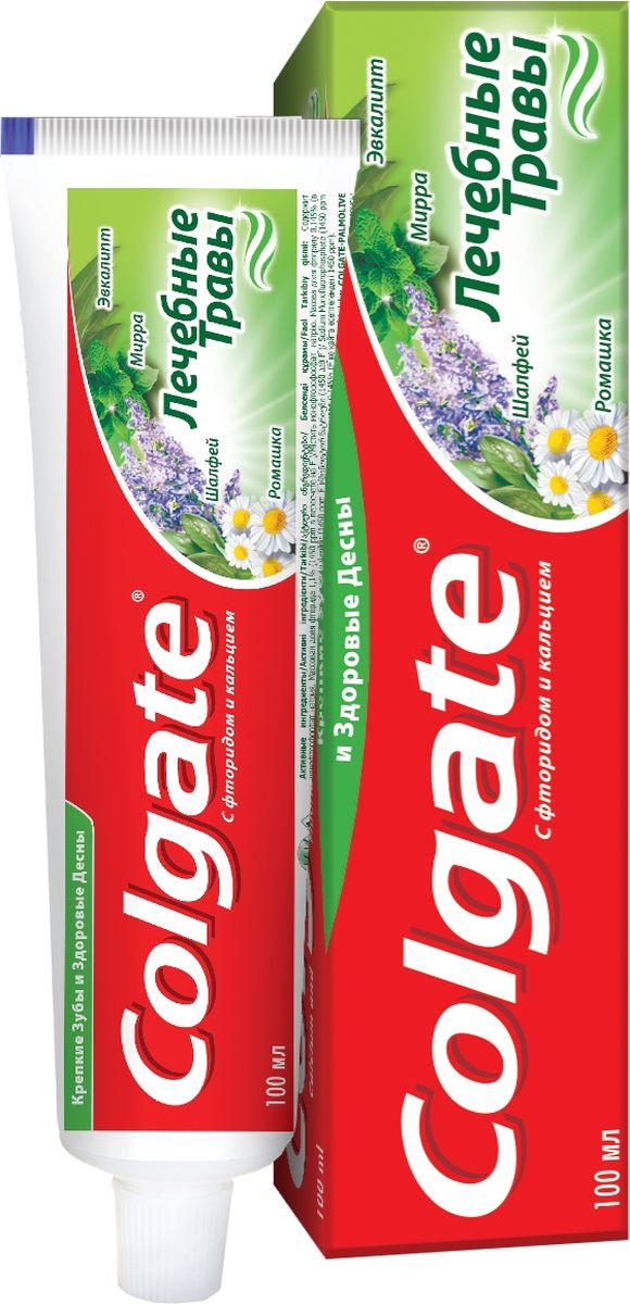 Colgate Зубная паста Лечебные травы 100 мл04014920В зубной пасте Colgate Лечебные Травы научные знания Colgate® соединены с лучшими природными компонентами для естественной защиты здоровья полости рта.