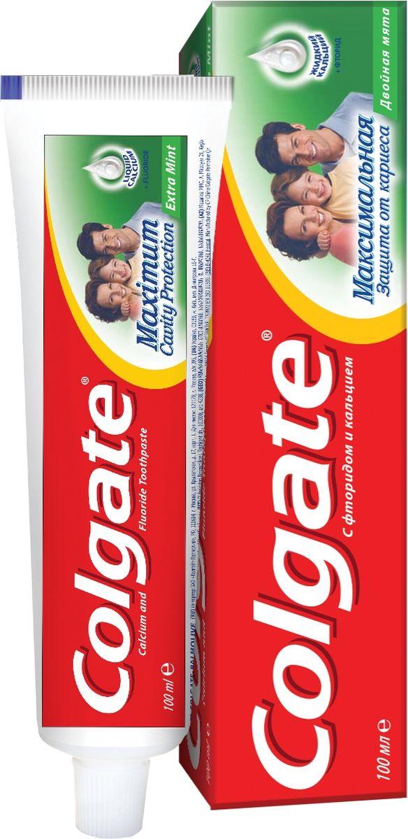 Colgate Зубная паста Максимальная защита от кариеса Двойная мята 100 мл