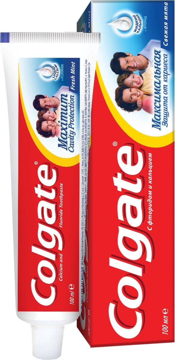 Colgate Зубная паста Максимальная защита от кариеса Свежая мята 100 мл