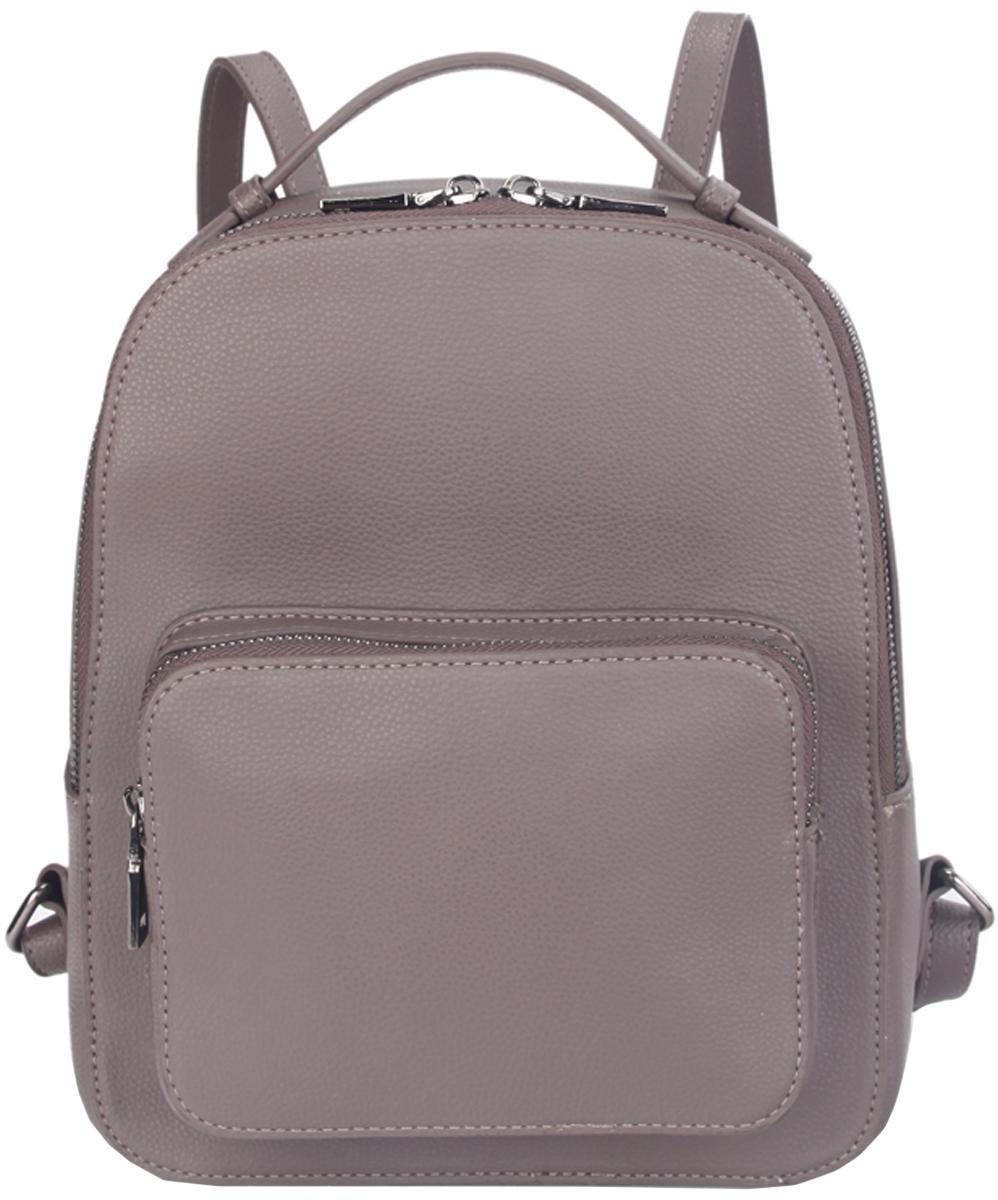 Рюкзак женский OrsOro, цвет: серый. D-430/223008Женский рюкзак OrsOro выполнен из искусственной кожи высокого качества. Рюкзак имеет одно вместительное отделение на молнии. В отделении присутствуют внутренний карман на молнии, внутренний карман для телефона.Снаружи имеется накладной внешний карман на молнии.Рюкзак обладает удобной ручкой сверху для переноски и двумя регулируемыми плечевыми лямками.
