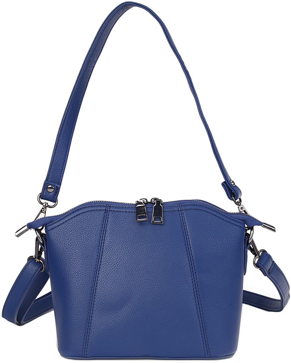 Сумка женская OrsOro, цвет: синий. D-401/3579995-400Сумка на металлической молнии, одно отделение, внутренний карман - перегородка, внутренний карман на молнии, внутренний карман для телефона 2шт, внешний карман на пластиковой молнии, ручка-ремень на карабинах