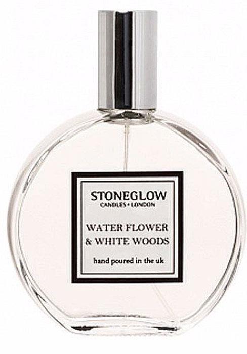 Ароматизатор Stoneglow Водяной цветок и белое дерево, спрей, 120 мл2000000049700Аромат водяной цветок и белое деревр свежий цветочный букет с нотками лимона и бергамота. Травяные нотки тимьяна, мускусного ореха и гвоздики на теплой базе розового берева, кедра и сандалового дерева. Спрей упакован в подарочную коробку и станет прекрасным подарком.