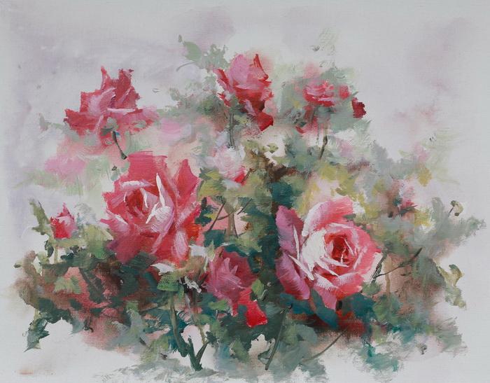 Картина Розы. Холст, масло. 30х40 смАРТ 87304002