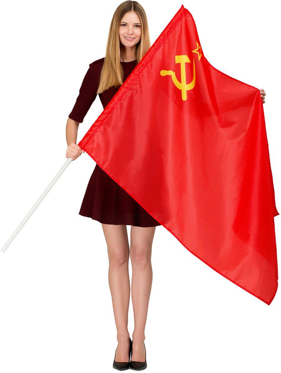 Флаг Ratel СССР, двухсторонний, 90 х 135 см230_604Флаг СССР предназначен как для использования на улице, так и в помещениях. Используется как с держателем - древком, так и без него. Он изготовлен из полиэфирного шелка. На полотне выполнена яркая печать с двух сторон.Размер полотна: 90 х 135 см.