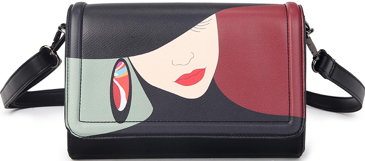 Сумка женская OrsOro, цвет: черный, бордовый. D-407/2L39845800Сумка OrsOro выполнена из высококачественной искусственной кожи. Сумка закрывается на клапан с кнопками и на пластиковую молнию. Внутри расположено главное отделение, которое содержит внутренний карман и внутренний накладной карман на молнии, карман для телефона, имеет внешний карман на пластиковой молнии. Изделие оснащено удобным регулируемым плечевым ремнем длиной 125 см.Размер: 22,5 х 16 х 7,5 см.