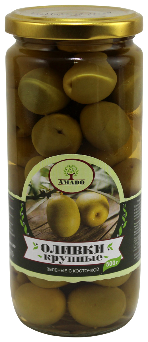 Amado зеленые оливки с косточкой, крупные, 500 г20Экологически чистый продукт. Чистейшая горная вода позволяет почувствовать истинный вкус оливок. Отсутствуют усилители вкуса и консерванты. Плоды крупного размера, с маленькой косточкой
