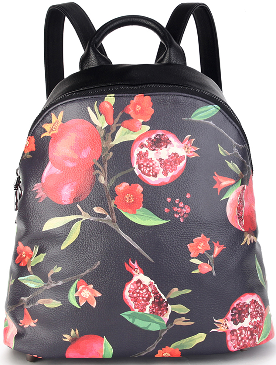 Рюкзак женский OrsOro, цвет: черный, красный. D-427/423008Женский рюкзак OrsOro выполнен из искусственной кожи высокого качества. Рюкзак имеет одно вместительное отделение на металлической молнии. В отделении присутствуют внутренний карман на молнии, 2 внутренних кармана для телефона, с окантовкой.Рюкзак обладает удобной ручкой сверху для переноски и двумя регулируемыми плечевыми лямками. Снаружи так же имеется внешний вертикальный задний карман на пластиковой молнии.