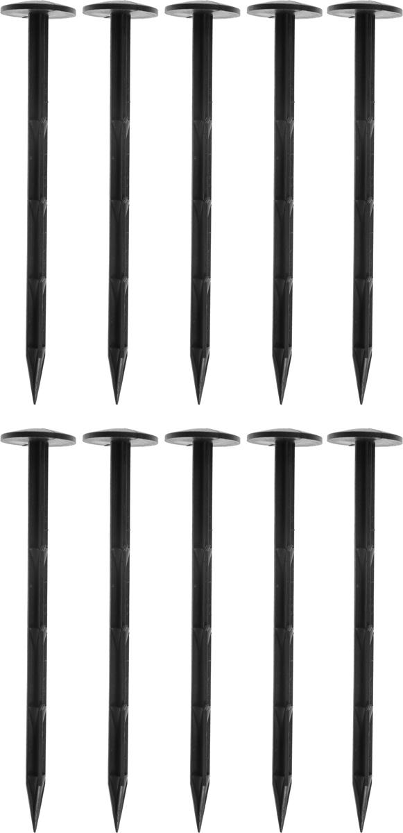 Гвоздь садовый Garden Show, крепежный, длина 20 см, 10 шт100-49000000-60Садовый гвоздь Garden Show выполнен из высококачественного пластика. Он предназначен для закрепления на грунте листовых и рулонных садовых мембран, геотекстиля, укрывного материала, парниковых и защитных пленок, зимних укрытий.В комплекте 10 гвоздей.Длина гвоздя: 20 см.