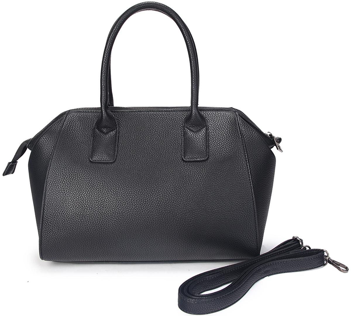 Сумка женская OrsOro, цвет: черный. D-419/1101225Сумка OrsOro выполнена из высококачественной искусственной кожи. Сумка закрывается на молнию. Внутри расположено главное отделение с внутренним карманом на молнии в окантовке и карман для телефона.На передней стенке сумка имеет горизонтальный карман на молнии.Размер: 31 х 25 х 13 см.