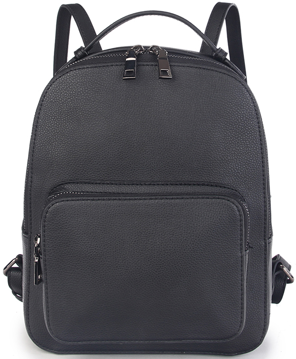 Рюкзак женский OrsOro, цвет: черный. D-430/1101225Женский рюкзак OrsOro выполнен из искусственной кожи высокого качества. Рюкзак имеет одно вместительное отделение на молнии. В отделении присутствуют внутренний карман на молнии, внутренний карман для телефона.Снаружи имеется накладной внешний карман на молнии.Рюкзак обладает удобной ручкой сверху для переноски и двумя регулируемыми плечевыми лямками.