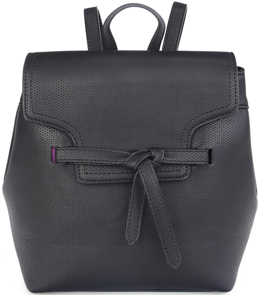 Рюкзак женский OrsOro, цвет: черный. D-432/3101225Женский рюкзак OrsOro выполнен из искусственной кожи высокого качества. Рюкзак с клапаном имеет одно вместительное отделение на молнии. В отделении присутствуют внутренний карман на молнии, внутренний карман для телефона.Снаружи имеется внешний карман на молнии и боковые магнитные кнопкиРюкзак обладает удобной ручкой сверху для переноски и двумя регулируемыми плечевыми лямками.