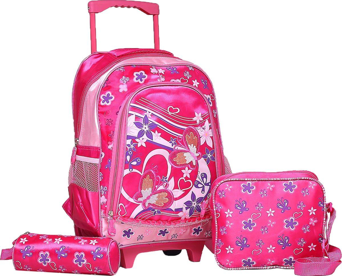 Страна Карнавалия Рюкзак Цветы цвет розовыйSKEB-UT4-866Маленькие, казалось бы, незначительные элементы зачастую завершают, дополняют образ, подчёркивают статус, стиль и вкус своего обладателя. Рюкзак-чемодан школьный Цветы, на колёсах, 1 отдел, наружный карман, 2 боковых кармана-сетки, сумка на молнии, косметичка, цвет розовый — одна из подобных деталей. Это вещь достойного качества, которая может стать прекрасным подарком по любому поводу.