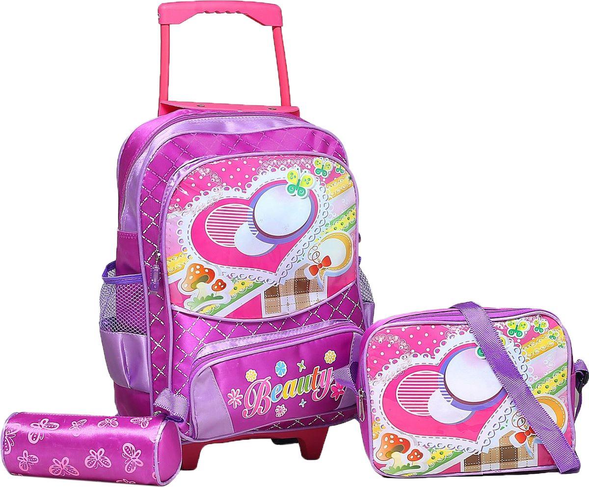 Страна Карнавалия Рюкзак Бабочка цвет фиолетовый730396Маленькие, казалось бы, незначительные элементы зачастую завершают, дополняют образ, подчёркивают статус, стиль и вкус своего обладателя. Рюкзак-чемодан школьный Бабочка, на колёсах, 1 отдел, 2 наружных кармана, 2 боковых кармана-сетки, сумка на молнии, косметичка, цвет фиолетовый — одна из подобных деталей. Это вещь достойного качества, которая может стать прекрасным подарком по любому поводу.