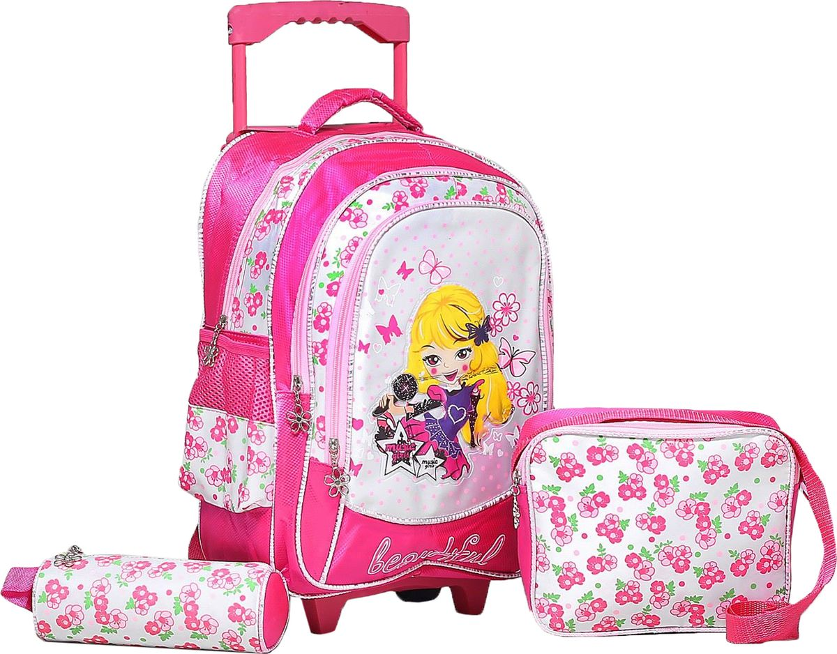 Страна Карнавалия Рюкзак Девочка цвет розовыйRA-678-4/1Маленькие, казалось бы, незначительные элементы зачастую завершают, дополняют образ, подчёркивают статус, стиль и вкус своего обладателя. Рюкзак-чемодан школьный Девочка, на колёсах, 1 отдел, 2 наружных кармана, 2 боковых кармана-сетки, сумка на молнии, косметичка, цвет розовый — одна из подобных деталей. Это вещь достойного качества, которая может стать прекрасным подарком по любому поводу.
