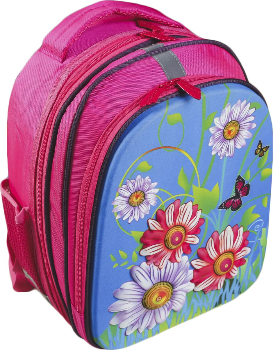 Страна Карнавалия Ранец школьный Цветы цвет розовый72523WDМаленькие, казалось бы, незначительные элементы зачастую завершают, дополняют образ, подчёркивают статус, стиль и вкус своего обладателя. Рюкзак школ Цветы, 2 отделения на молнии, 2 н/кармана, ортопед спин, розовый — одна из подобных деталей. Это вещь достойного качества, которая может стать прекрасным подарком по любому поводу.