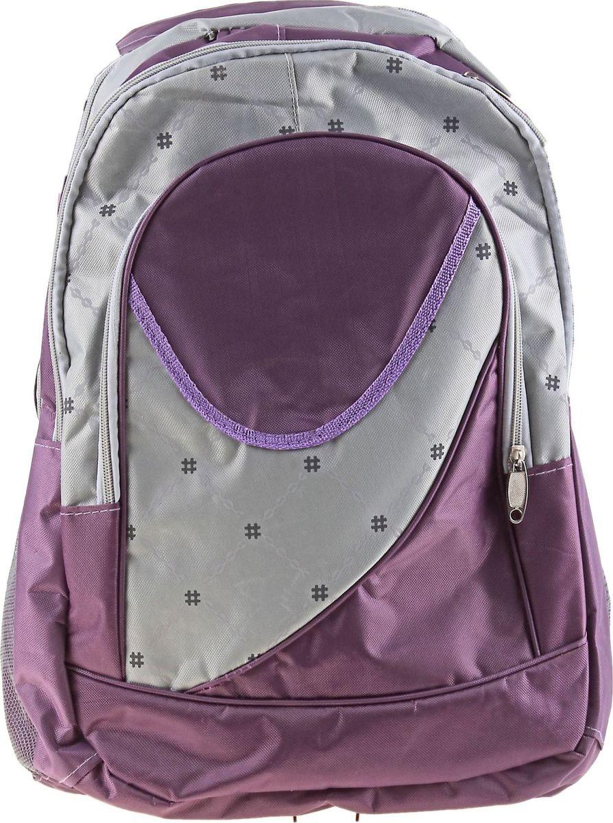 Страна Карнавалия Рюкзак Лондон цвет фиолетовый657250Маленькие, казалось бы, незначительные элементы зачастую завершают, дополняют образ, подчёркивают статус, стиль и вкус своего обладателя. Рюкзак школьный Лондон, 1 отдел, 2 наружных и 2 боковых кармана, фиолетовый/серый — одна из подобных деталей. Это вещь достойного качества, которая может стать прекрасным подарком по любому поводу.
