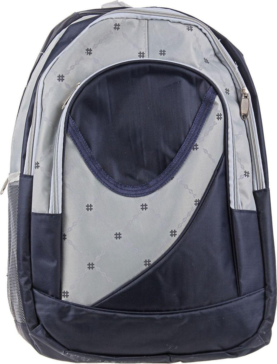 Страна Карнавалия Рюкзак Лондон цвет синий72523WDМаленькие, казалось бы, незначительные элементы зачастую завершают, дополняют образ, подчёркивают статус, стиль и вкус своего обладателя. Рюкзак школьный Лондон, 1 отдел, 2 наружных и 2 боковых кармана, синий/серый — одна из подобных деталей. Это вещь достойного качества, которая может стать прекрасным подарком по любому поводу.