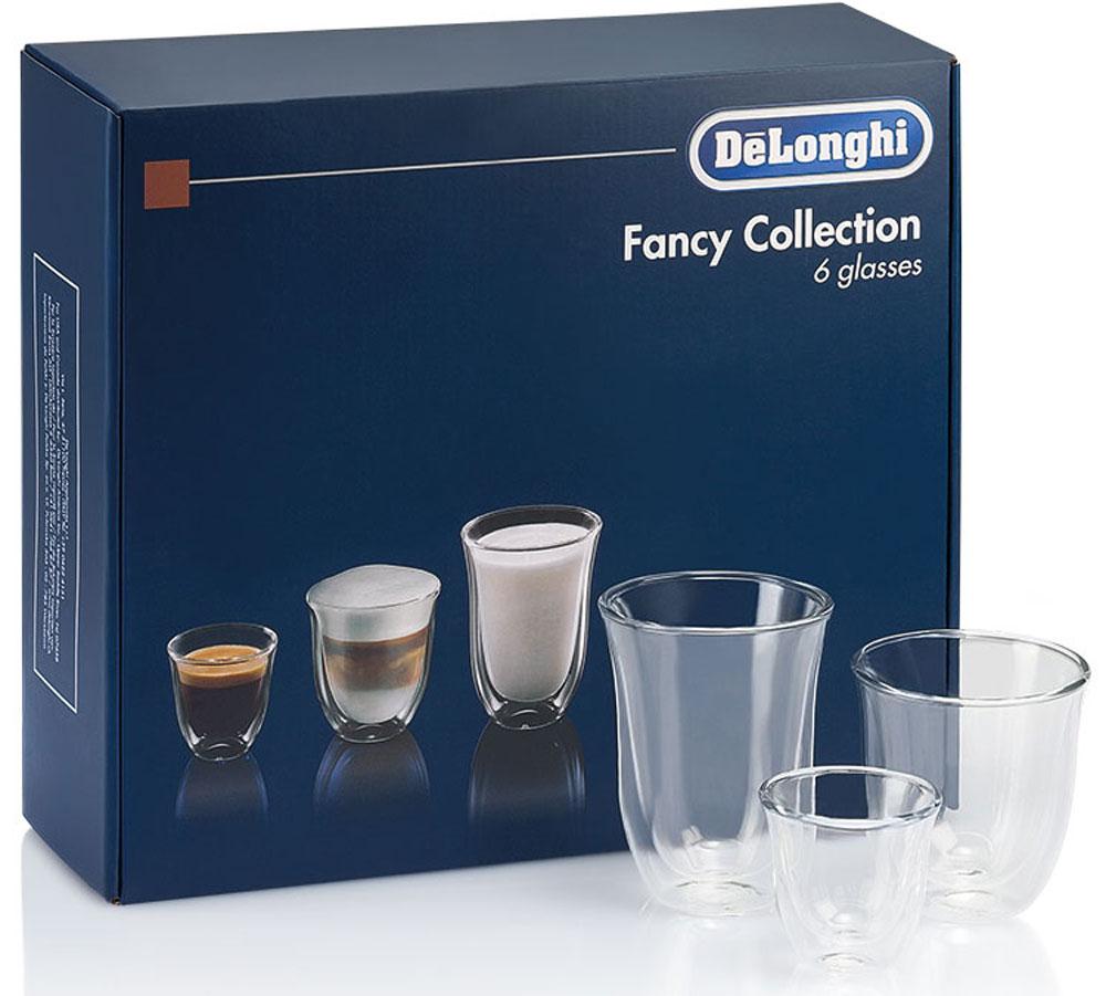 DeLonghi Mix Glasses Set чашки, 6 шт23539DeLonghi Mix Glasses Set - набор для эспрессо, капучино и молока из 6 чашек. Благодаря данному набору использование вашей кофемашины будет приносить еще больше удовольствия.Двойные стенки из термо-стеклаСохранение температуры напиткаУдобно держатьМожно мыть в посудомоечной машинеБоросиликатное стеклоРучная работа