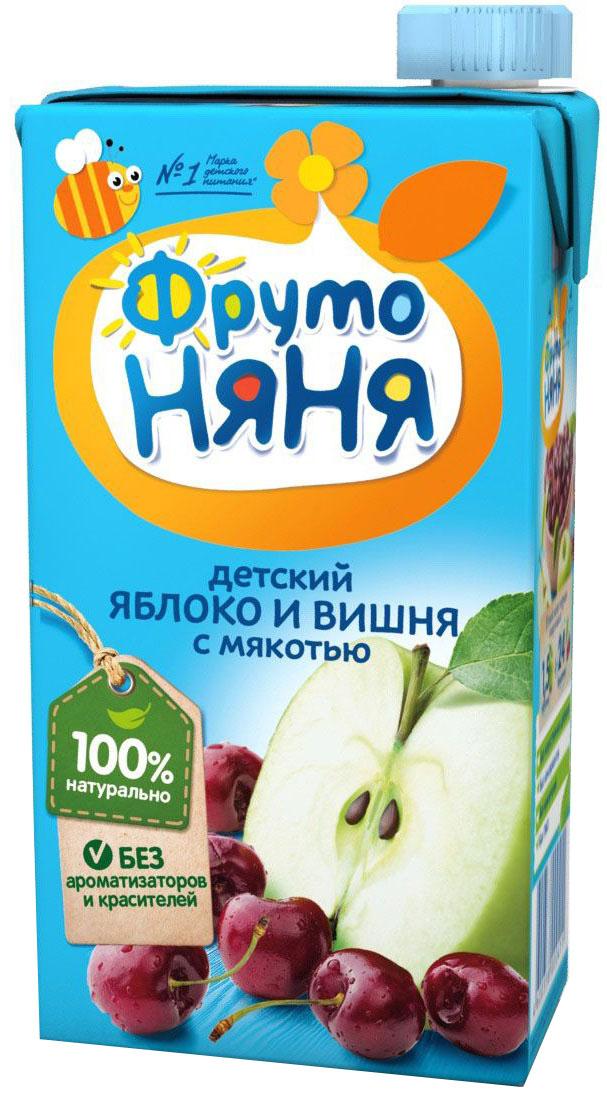 ФрутоНяня сок из яблок и вишни с мякотью, 0,5 л
