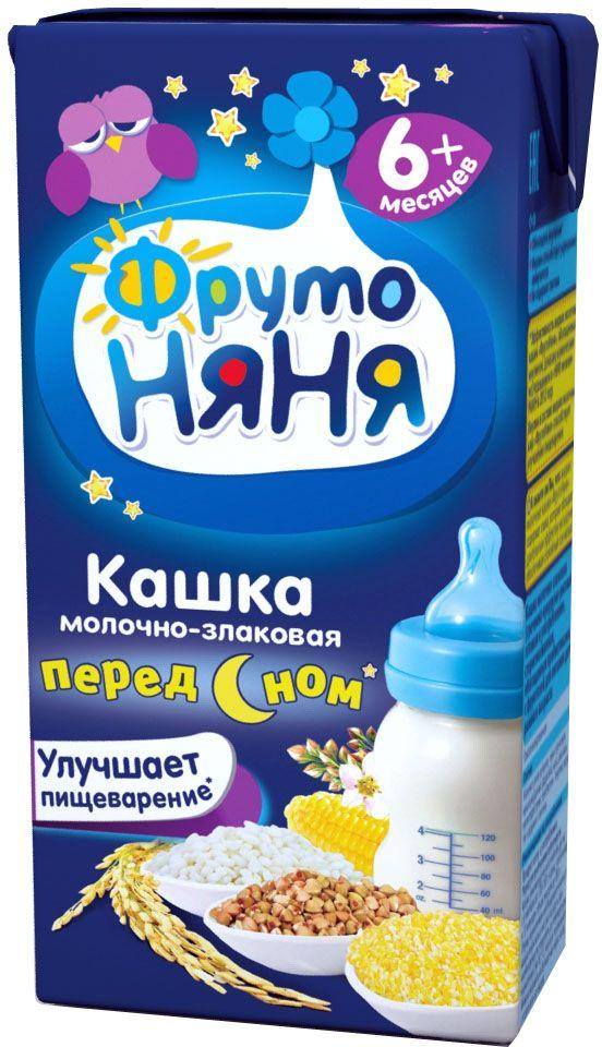 ФрутоНяня каша мультизлаковая молочная с 6 месяцев, 0,2 л1093улучшает пищеварение (клинически доказано)обогащена инулиноминулин улучшает пищеварениебез консервантов, красителей, ГМО