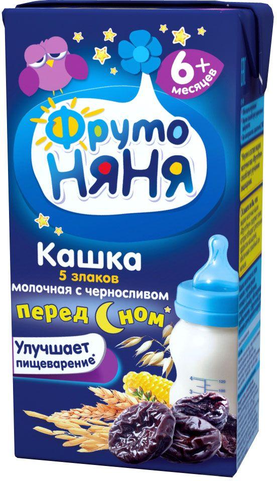 ФрутоНяня каша из 5 злаков с черносливом молочная с 6 месяцев, 0,2 лP062015улучшает пищеварение (клинически доказано)обогащена инулиноминулин улучшает пищеварениебез консервантов, красителей, ГМО