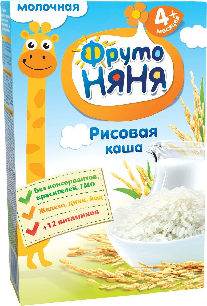 ФрутоНяня каша рисовая молочная с 4 месяцев, 200 гP062081обогащена 12 витаминами и 3 минераламиобогащена инулиноминулин улучшает пищеварениебез консервантов, красителей, ГМО