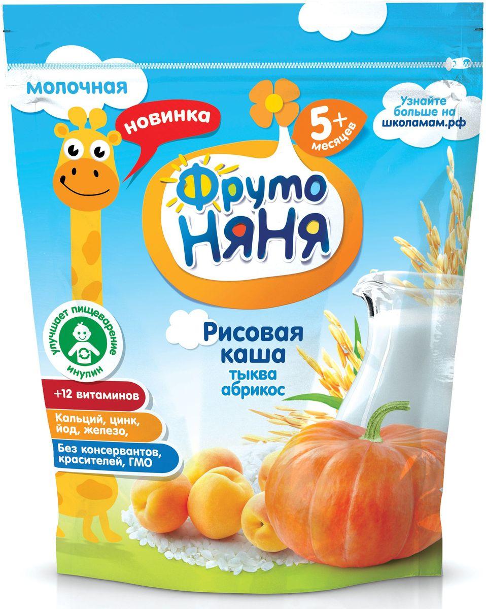 ФрутоНяня каша рисовая с тыквой и абрикосами молочная с 5 мес, 200 гP062086обогащена 12 витаминами и 3 минераламиизготовлена с ипользованием натурального фруктового пюребез консервантов, красителей, ГМО