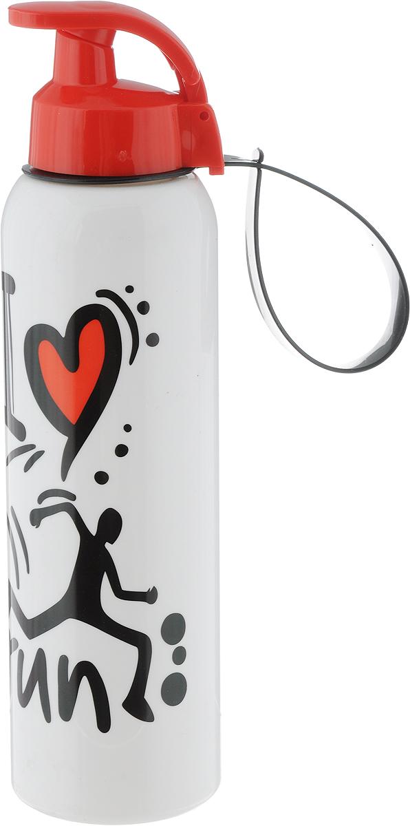Бутылка для воды Herevin, цвет: красный, белый, 750 мл161405-805_красный, белыйБутылка для воды Herevin изготовлена из высококачественного твердого пластика. Носик бутылки закрывается клапаном, благодаря чему содержимое бутылки не прольется и дольше останется свежим. Также изделие имеет регулируемую по длине петлю для удобства ношения. Удобная бутылка пригодится как на тренировках, так и в походах или просто на прогулке.Высота бутылки: 26 см.Диаметр горлышка: 4 см.