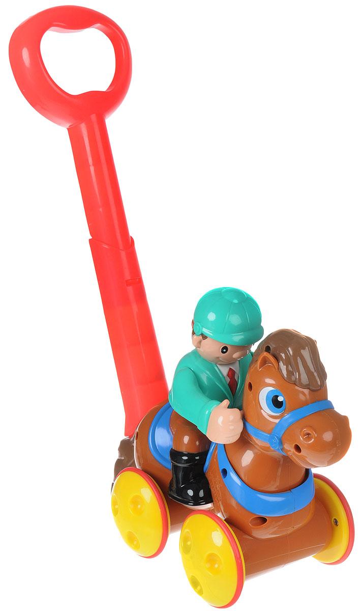 Keenway Игрушка-каталка Жокей на лошадке цвет коричневый, Dongguan Keenway Metal & Plastic Toys Co. Ltd