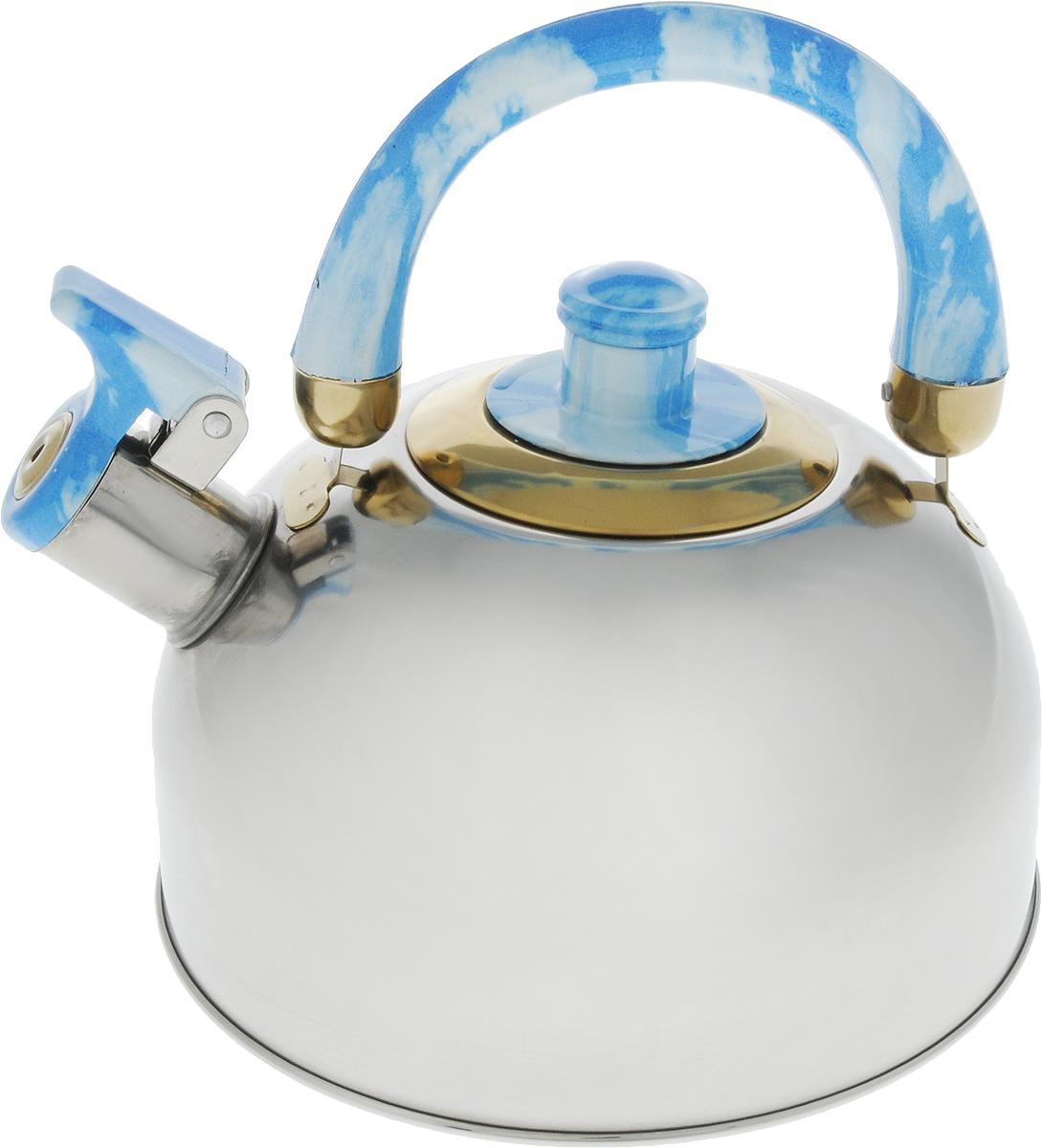 Чайник Bohmann, со свистком, 2,5 л. 621BHL68/5/4Чайник Bohmann изготовлен из нержавеющей стали с зеркальной полировкой. Высококачественная сталь представляет собой материал, из которого в течение нескольких десятилетий во всем мире производятся столовые приборы, кухонные инструменты и различные аксессуары. Этот материал обладает высокой стойкостью к коррозии и кислотам. Прочность, долговечность и надежность этого материала, а также первоклассная обработка обеспечивают практически неограниченный запас прочности и неизменно привлекательный внешний вид. Чайник оснащен удобной ручкой из бакелита. Ручка не нагревается, что предотвращает появление ожогов и обеспечивает безопасность использования. Носик чайника имеет откидной свисток для определения кипения. Можно использовать на всех типах плит, кроме индукционных. Можно мыть в посудомоечной машине. Диаметр (по верхнему краю): 8,5 см.Высота чайника (без учета ручки): 10 см.Высота чайника (с учетом ручки): 19,5 см.Диаметр основания: 14 см.