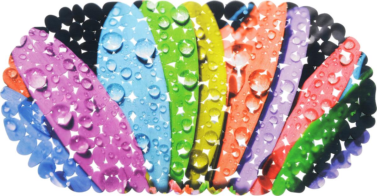 Коврик для ванной DeLuxe Лепестки, противоскользящий, 67 х 36 см14-133Коврик противоскользящий DeLuxe Лепестки изготовлен из прочного ПВХ. Рельефная поверхность коврика предохраняет от падения. 104 присоски диаметром 15 мм , расположенных по всей нижней стороне коврика, способствуют плотному прилеганию к поверхности ванн из любых материалов. Рисунок на лицевой поверхности нанесен с помощью высококачественной пленки, стоек к истиранию, долговечен. Коврик легко мыть.