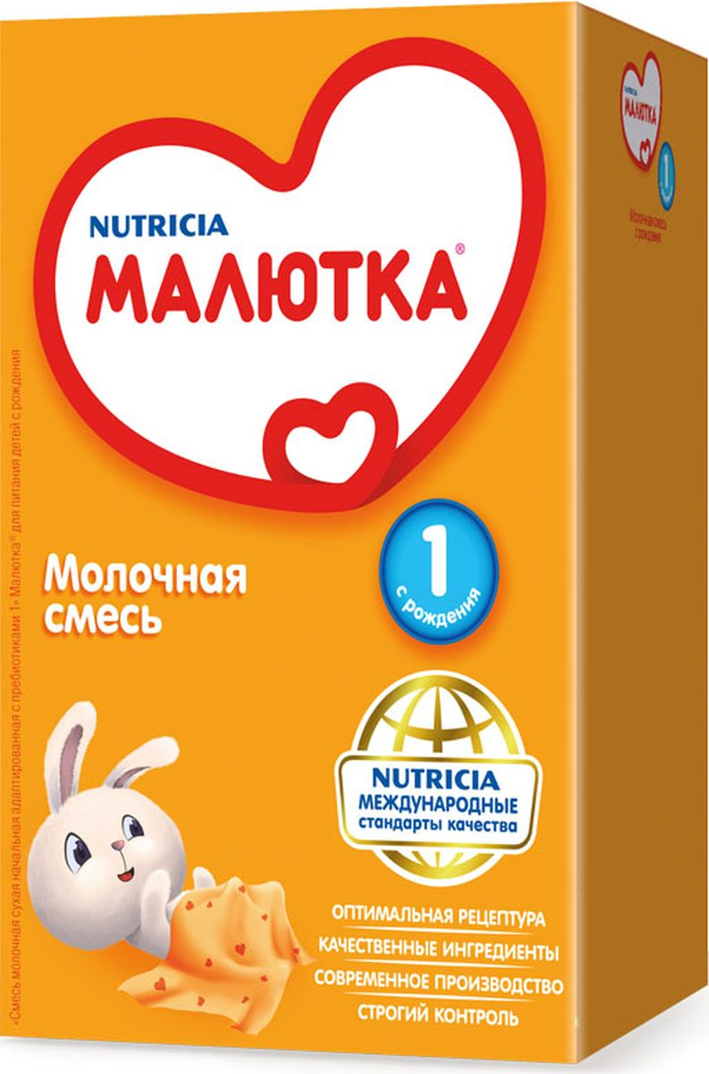 Малютка 1 молочная смесь, с рождения, 600 г4600209011102Детская молочная смесь Малютка 1 - это комплексная полноценная и нежная забота о самых маленьких. Смесь обязательно понравится малышу и обеспечит его всем необходимым для здоровья и роста, так как ее состав адаптирован к грудному молоку. Она улучшит пищеварение и обеспечит Вашему малышу сбалансированное питание и комплексную заботу, поскольку в ее состав входят пищевые волокна, питательные вещества, минералы и витамины, специально подобранные для растущего детского организма. Нуклеотиды, входящие в состав смеси, способствуют созреванию иммунной системы и развитию мозга. Также смесь обогащена железом для профилактики развития анемии, йодом для нормального роста и интеллектуального развития, селеном для укрепления иммунитета. Малютка 1 отвечает как современным российским, так и международным стандартам качества. Сбалансированный состав смеси обеспечивает полноценное развитие младенца. Продукт одобрен Союзом педиатров России.