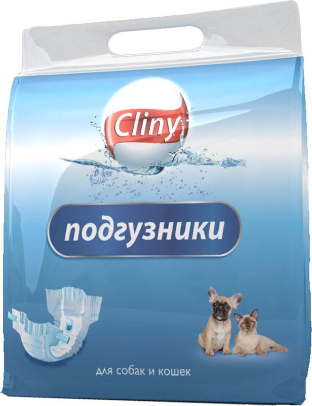 Подгузники для домашних животных Cliny, 15-30 кг, 7 шт. Размер XLK205Подгузники впитывающие для домашних животных обеспечивают надежную защиту, гигиену и комфорт. Необходимы домашним животным при недержании, течке, передержке, а также в послеоперационный период и при транспортировке.Анатомическая форма подгузника делает ношение его лёгким и комфортным для животного.Гранулы SAP превращают влагу в гель, надежно удерживают влагу и запахи.СОСТАВ: Гидрофильное нетканое полотно, SAP (супер абсорбирующий полимер), распушенная целлюлоза, дышащая полиэтиленовая пленка.УСЛОВИЯ ХРАНЕНИЯ: Хранить в сухом недоступном для детей и домашних животных месте.Срок годности не ограничен.