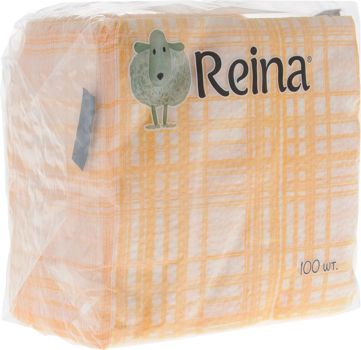Салфетки бумажные Reina, однослойные, цвет: белый, оранжевый, 12 х 12 см, 100 штPUL-000220ко_оранжевая клеткаСалфетки бумажные Reina, выполненные из натуральной целлюлозы, станут отличным дополнением любого праздничного стола. Они отличаются необычной мягкостью и оригинальностью.Размер салфетки: 12 х 12 см. Количество слоев: 1.
