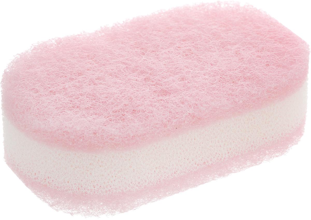 Губка для посуды Ohe Plapon Kitchen Sponge, трехслойная, 11,5 х 6,5 х 3,5 см502804_розовый, белыйТрехслойная губка Ohe Plapon Kitchen Sponge предназначена для мытья и чистки изделий из пластика, стекла, эмалированной посуды, керамики, посуды, покрытой пластиком, кухонных приборов из нержавеющей стали.Особенности изделия:- нетканый материал на внешних сторонах губки прекрасно очищает посуду и не царапает поверхность,- мягкая губка в середине создает мелкую пену,- является безопасным продуктом, поскольку для склеивания не используются растворителии другие опасные вещества.Состав: нетканая поверхность -нейлон, губка - полиуретан.Выдерживает температуру до 90°С.