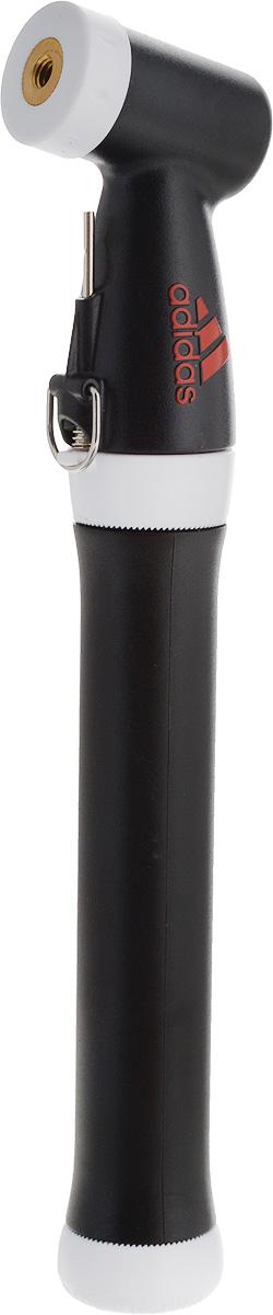 Насос для мячей Adidas, длина 21,5 смУТ-00010015Компактный ручной насос Adidas оснащен иглой, что позволяет без труда накачать мяч, а также подкачивать его при необходимости. Насос фиксируется в закрытом положении, имеет надежную конструкцию с боковой горловиной и специальный отсек для хранения иглы, что гарантирует его максимально комфортное использование.Изделие упаковано в пластиковый футляр. Длина насоса (в сложенном виде): 21,5 см.Длина насоса (при вытянутом поршне): 32 см.
