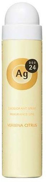 Shiseido Ag Deo24 Спрей дезодорант-антиперспирант с ионами серебра с ароматом вербены и цитрусов, 40 г444083В составе дезодоранта содержится новейшее сочетание порошка и жидкости, которое позволяет ему плотно ложиться на кожу. Высыхает сразу же после нанесения, не оставляя ни малейшего ощущения липкости. Благодаря апатиту, содержащему ионы серебра, блокирует размножение бактерий, исключая появление неприятного запаха пота. Создает эффект «впитывающей ткани», благодаря содержанию в составе дезодоранта квасцов, абсорбирующих пот. Дезодорант блокирует потоотделение, делает кожу подмышек сухой, мягкой и гладкой, не оставляет белых следов. Обеспечивает ощущение свежести и комфорта в течение всего дня. Обладает приятным сочетанием аромата вербены и цитруса.