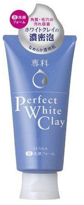 Shiseido Senka Perfect White Clay Очищающая пенка для умывания на основе белой глины, 120 гADAR0136Нежная пенка для умывания при взбивании в ладонях, образует большое количество упругой пушистой пены. Пена проникает глубоко в поры и захватывая грязь и кожное сало, деликатно и тщательно очищает кожу. Белая глина уменьшает воспаления, а аминокислоты успокаивают и восстанавливают барьерные функции кожи. Пенка идеально подходит для жирной и комбинированной кожи. Не сушит кожу лица, сохраняя гидролипидный баланс, благодаря содержащимся в составе гиалуроновой кислоте и протеинам шелка. Не содержит красителей. Обладает лёгким ароматом.