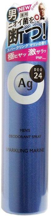 Shiseido Ag Deo24 Мужской спрей дезодорант-антиперспирант с ионами серебра с ароматом морского бриза, 100 г447220Дезодорант от Shiseido - это прекрасное сочетание уверенной защиты и свежего аромата морского бриза для мужчин. Надежно предотвращает появление пота и неприятного запаха. В составе дезодоранта содержится новейшее сочетание порошка и жидкости, которое позволяет ему плотно ложиться на кожу. Высыхает сразу же после нанесения, не оставляя ни малейшего ощущения липкости. Благодаря апатиту, содержащему ионы серебра, блокирует размножение бактерий, исключая появление неприятного запаха пота. Создает эффект «впитывающей ткани», благодаря содержанию в составе дезодоранта квасцов, абсорбирующих пот. Дезодорант блокирует потоотделение, делает кожу подмышек сухой, не оставляет белых следов. Обеспечивает ощущение свежести и комфорта в течение всего дня.