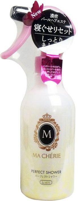 Shiseido Ma Cherie Увлажняющий спрей для волос с защитой от термического воздействия с цветочно-фруктовым ароматом, 250 мл09034280Увлажняющий спрей с нежным цветочно-фруктовым ароматом предназначен для сухих и ослабленных прядей. Средство удерживает влагу, делает волосы послушными до самых кончиков, придает волосам блеск и мягкость. Не оставляет ощущения липкости и жирности, препятствует спутыванию волос во время сна. Особая формула спрея защищает волосы от ультрафиолетовых лучей и от воздействия горячего воздуха фена.