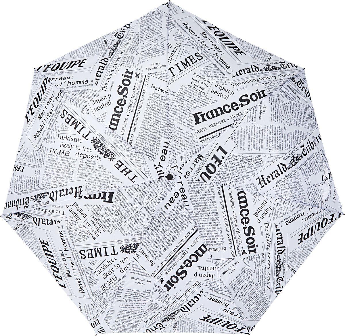 Зонт женский Labbra, цвет: белый. A3-05-LM201Колье (короткие одноярусные бусы)Женский зонт-автомат торговой марки LABBRA. Купол: 100% полиэстер, эпонж. Материал каркаса: сталь + алюминий + фибергласс. Материал ручки: пластик. Длина изделия - 26 см. Диаметр купола - 90 см.