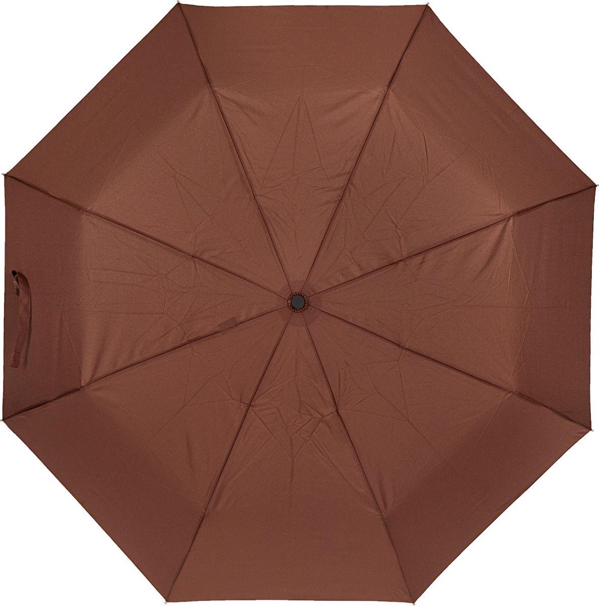 Зонт женский Labbra, цвет: коричневый. A3-05-LT200Колье (короткие одноярусные бусы)Женский зонт-автомат торговой марки LABBRA с проявляющимся рисунком. Изображение на зонте начинает проявляться, как только ткань купола намокает, при высыхании рисунок тускнеет и исчезает. Купол: 100% полиэстер, эпонж. Материал каркаса: сталь + алюминий + фибергласс. Материал ручки: пластик. Длина изделия - 29 см. Диаметр купола - 105 см.