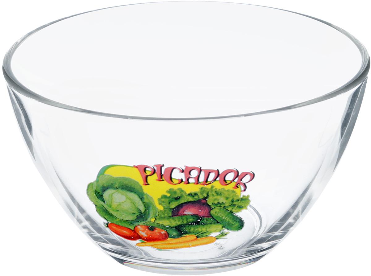 Салатник OSZ Пикадор, 250 мл07с1322 ДЗ ПИКАДОРСалатник OSZ Пикадор изготовлен из бесцветного стекла и украшен ярким рисунком. Идеально подходит для сервировки стола.Салатник не только украсит ваш кухонный стол и подчеркнет прекрасный вкус хозяйки, но и станет отличным подарком. Диаметр салатника: 11 см. Высота салатника: 5,5 см.
