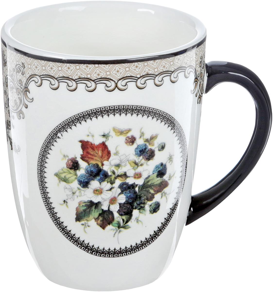 Кружка Lillo, цвет: белый, черный, 350 мл115510Кружка Lillo выполнена из высококачественной керамики с глазурованным покрытием и оформлена оригинальным рисунком. Изделие оснащено удобной ручкой.Такая кружка прекрасно оформит стол к чаепитию и станет его неизменным атрибутом. Можно мыть в посудомоечной машине и использовать в СВЧ.Диаметр кружки (по верхнему краю): 8,3 см.Высота чашки: 10,5 см.
